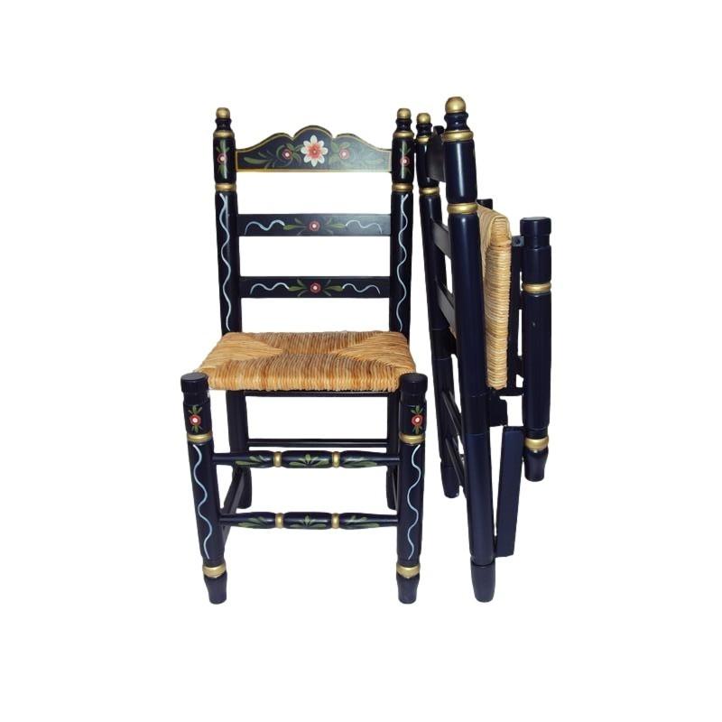 silla de nea plegable azul