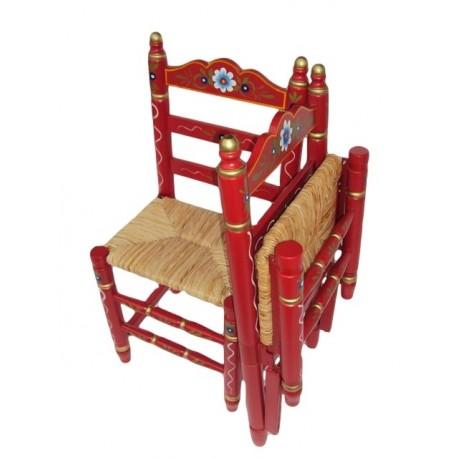 silla de nea plegable rojo