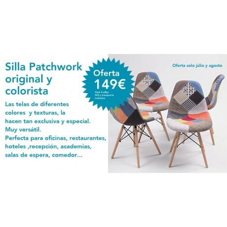 Pack sillas patchwork