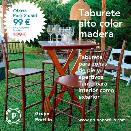 Taburete Alto Color Madera
