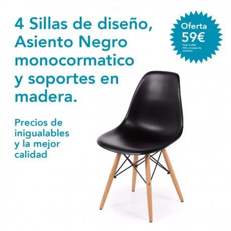 Pack 4 sillas de diseño