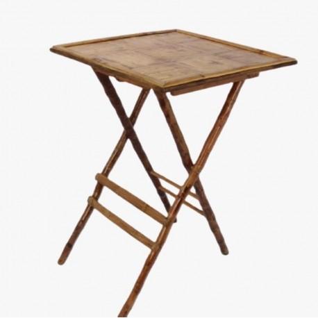 Mesa alta bambú