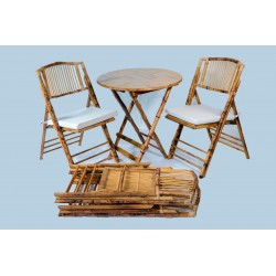 Pack 4 sillas bambú