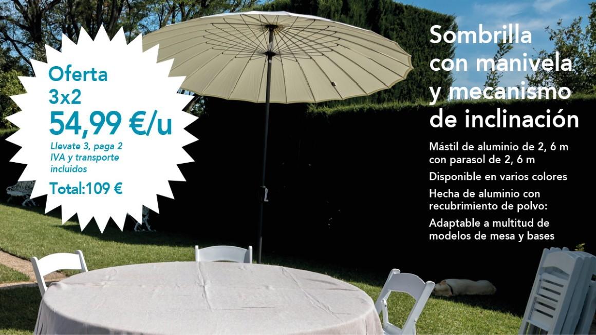 Promoción Sombrillas 3x2